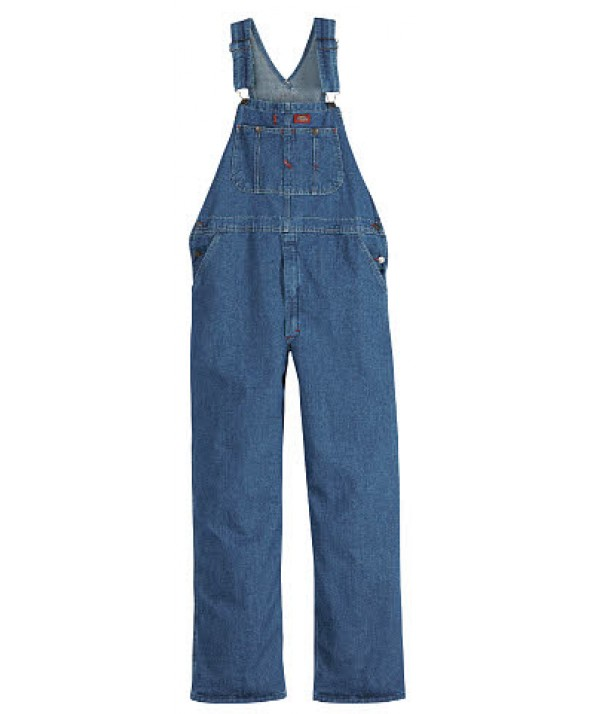 Dickies men's bib overalls 8396SNB - Stonewashed Indigo Blue