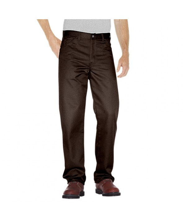 Dickies men's jean 5 pkt/paint/utility C7988CB - Chocolate Brown