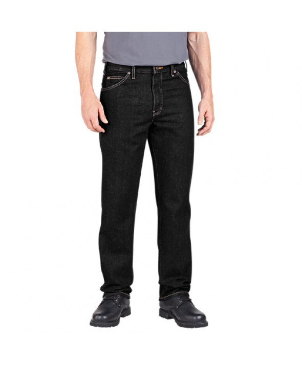 Dickies men's jean 5 pkt/paint/utility C993RBK - Rinsed Black