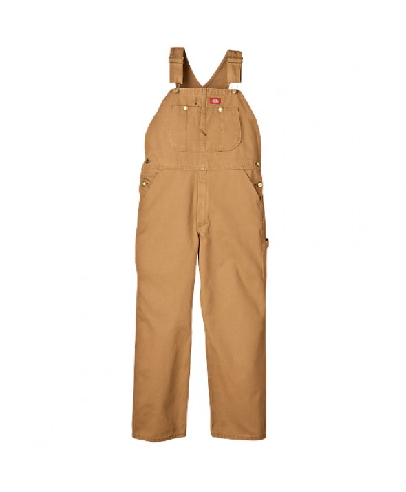 Dickies men's bib overalls DB100RBD - Rinsed Brown Duck