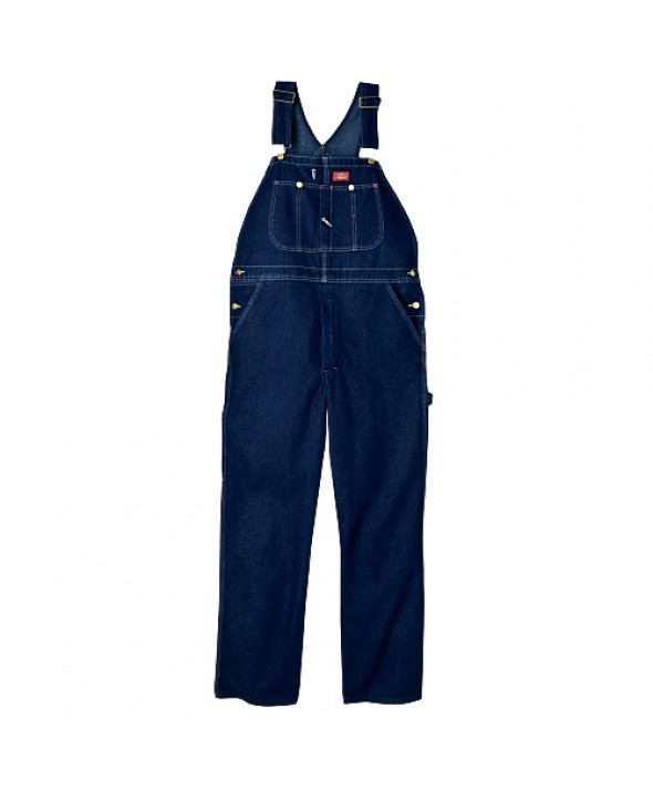 Dickies men's bib overalls DB100RNB - Rinsed Indigo Blue