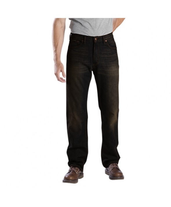 Dickies men's jean 5 pkt/paint/utility DD110SBB1 - Stonewashed Overdyed Black