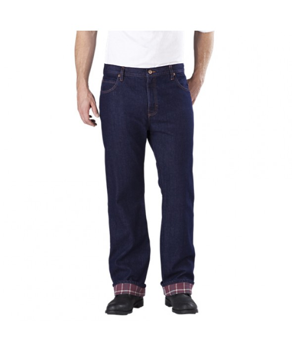 Dickies men's jean 5 pkt/paint/utility DD217RNB - Rinsed Indigo Blue