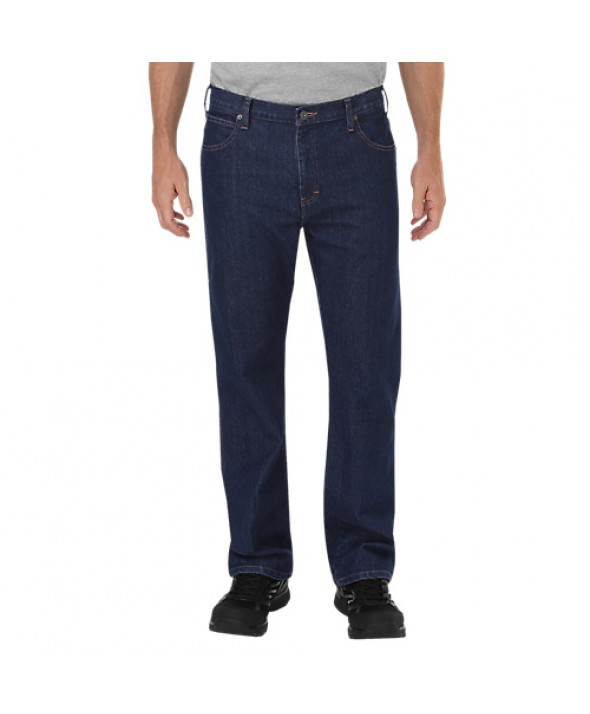 Dickies men's jean 5 pkt/paint/utility DP805RNB - Rinsed Indigo Blue