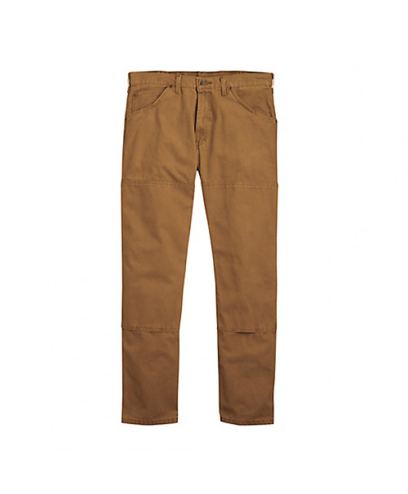 Dickies men's jean 5 pkt/paint/utility DU210RBD - Rinsed Brown Duck