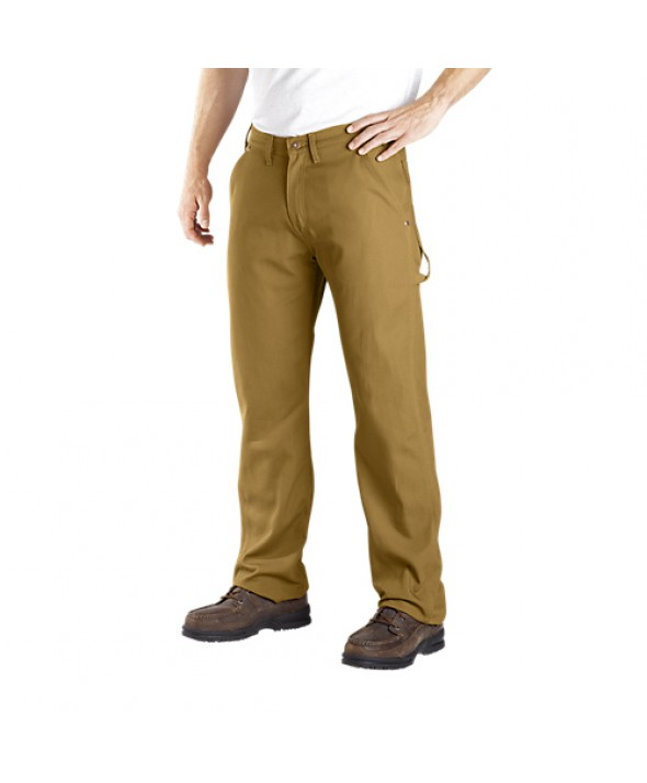 Dickies men's jean 5 pkt/paint/utility DU212RBD - Rinsed Brown Duck