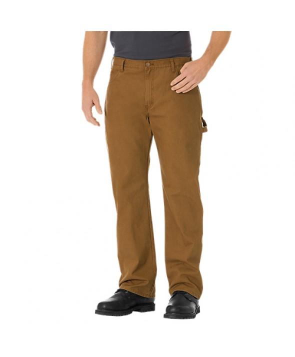 Dickies men's jean 5 pkt/paint/utility DU250RBD - Rinsed Brown Duck