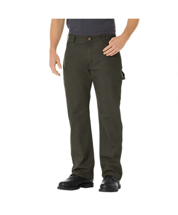 Dickies men's jean 5 pkt/paint/utility DU250RBV - Rinsed Black Olive