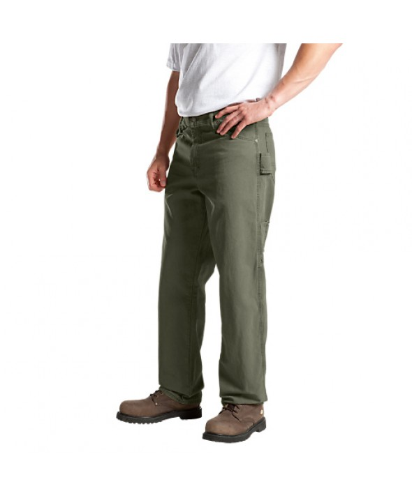 Dickies men's jean 5 pkt/paint/utility DU336RMS - Rinsed Moss Green