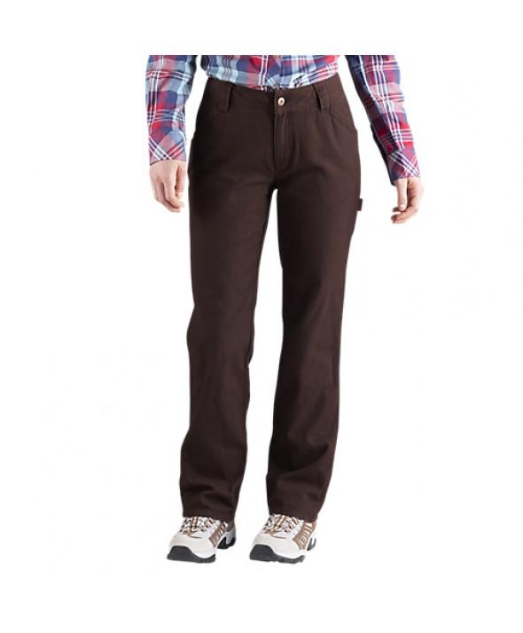 Dickies women's pants FD2300RCB - Rinsed Chocolate Brown