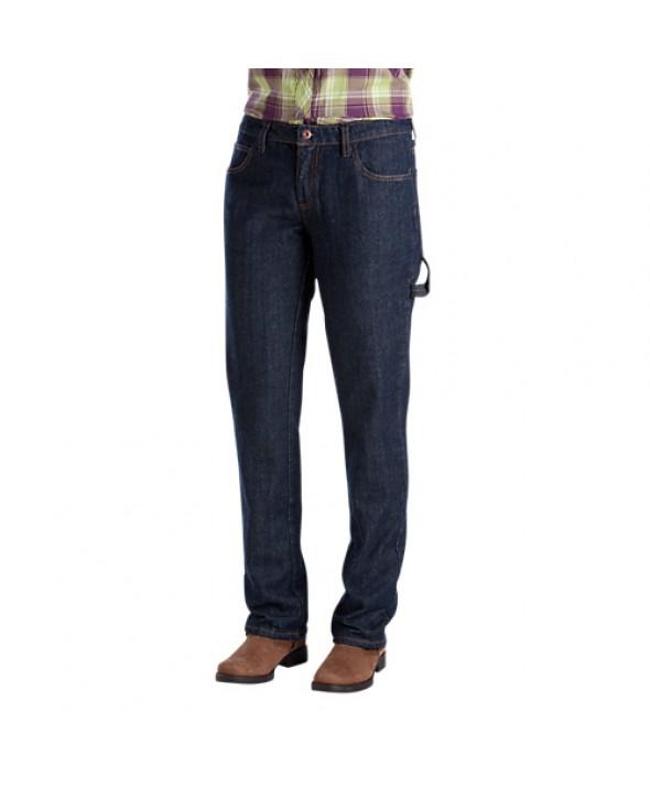 Dickies women's jeans FD235RNB - Rinsed Indigo Blue