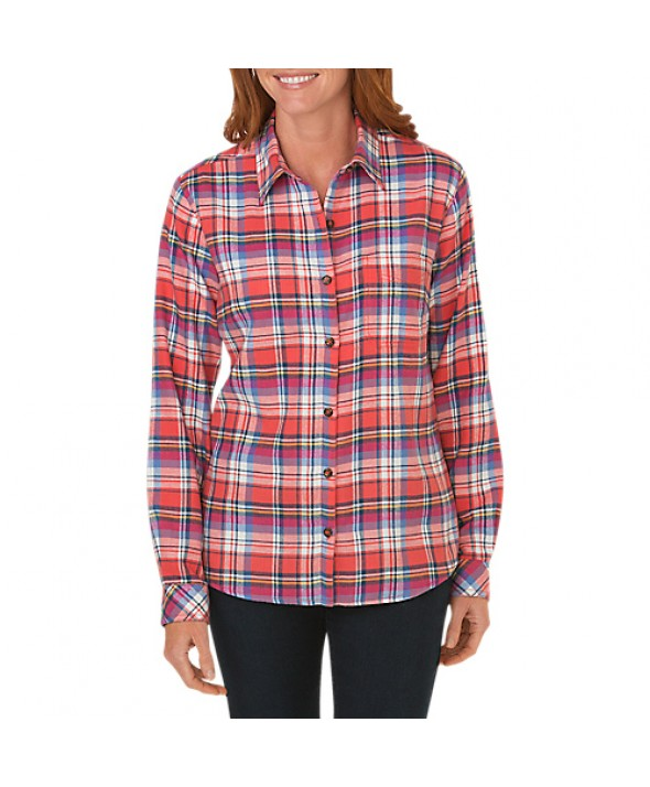 Dickies women's shirts FL075CFP - Coral Reef Dark Denim French B