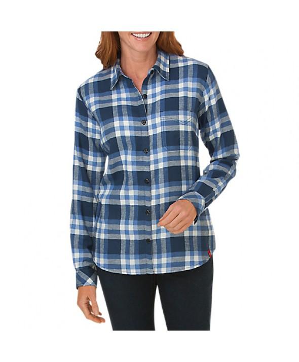 Dickies women's shirts FL075DFC - Dark Denim/ French Blue Check