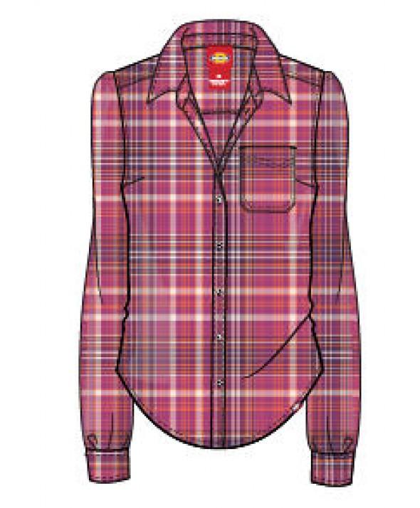 Dickies women's shirts FL075IMP - Pink Berry Mandarin Petunia Pl
