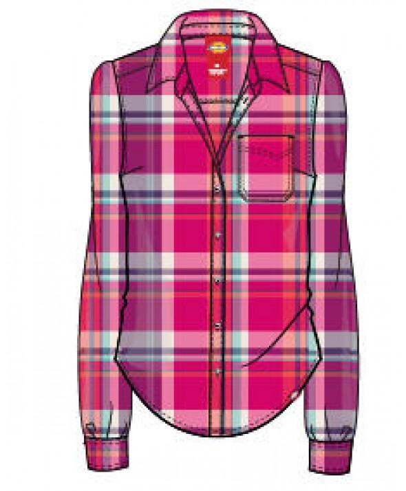 Dickies women's shirts FL075JCP - Jazzy Coral Reef Petunia Aqua