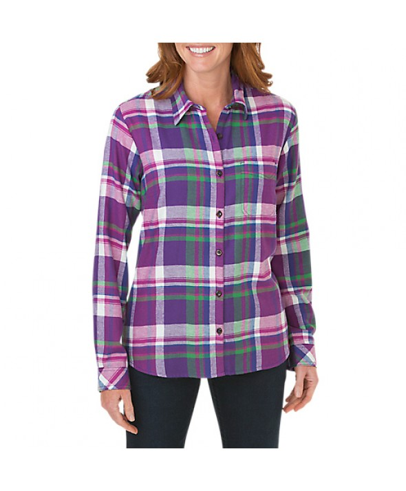 Dickies women's shirts FL075UYP - Petunia Leaf Green Pink Berry