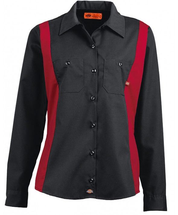 Dickies women's shirts FL524BKER - Black/english Red