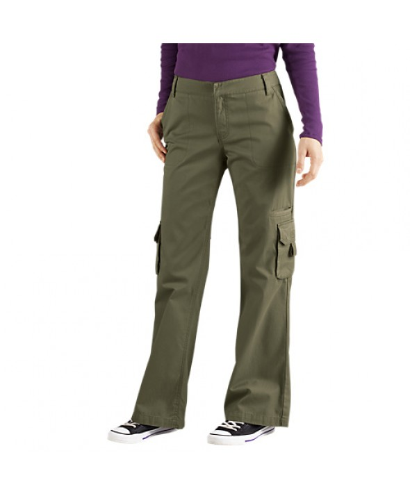 Dickies women's pants FP777RGE - Rinsed Grape Leaf