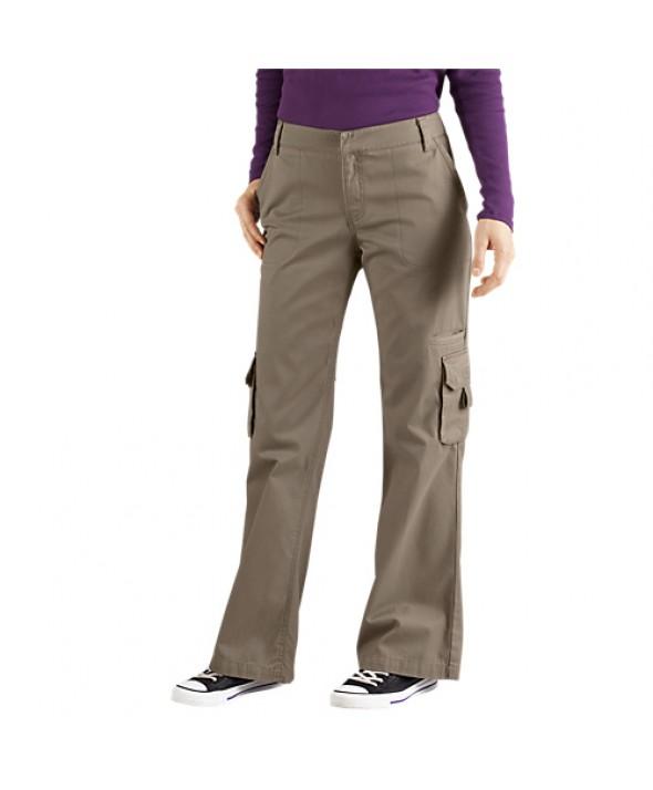 Dickies women's pants FP777RNP - Rinsed Pebble Brown
