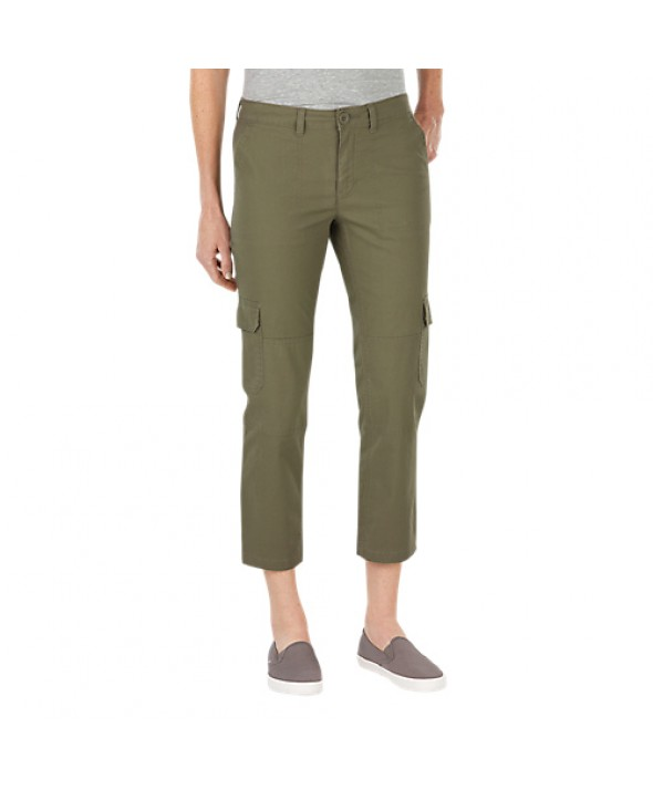 Dickies women's shorts FR343RUO - Rinsed Burnt Olive
