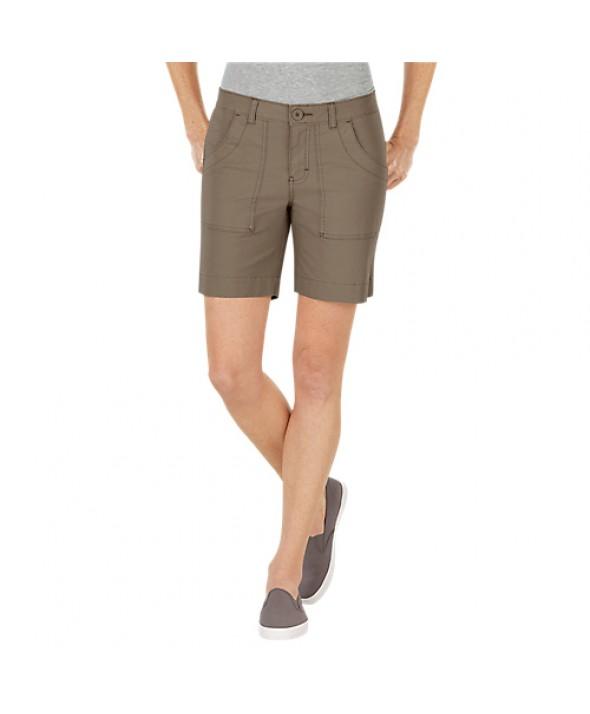 Dickies women's shorts FR344RNP - Rinsed Pebble Brown