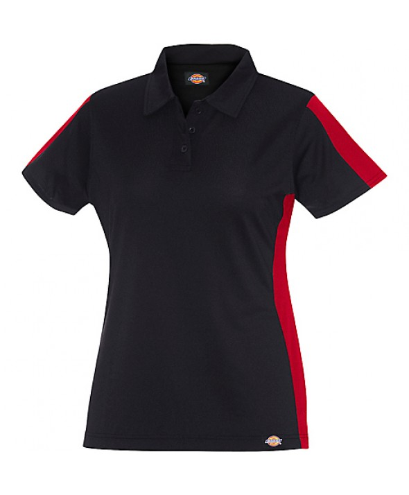 Dickies women's shirts FS424BKER - Black/english Red