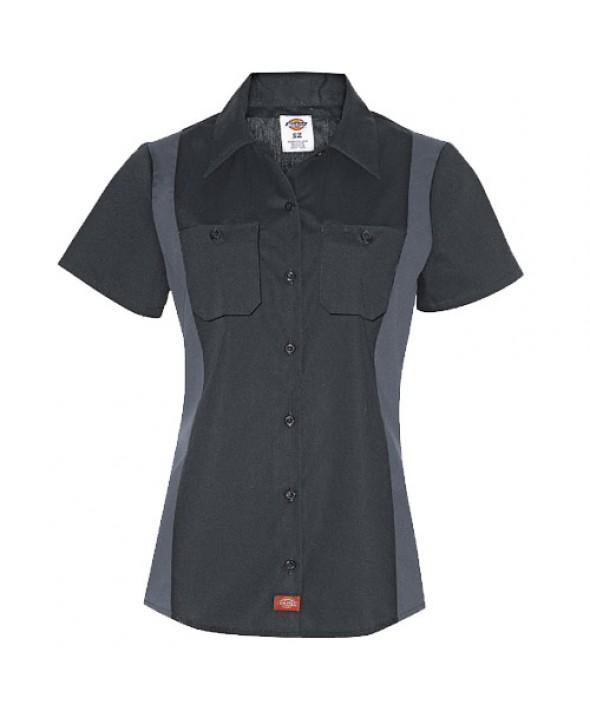 Dickies women's shirts FS524BKCH - Black/charcoal