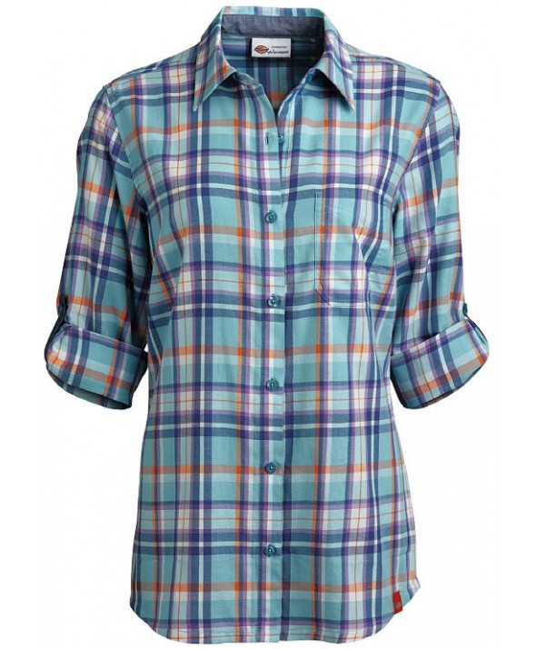 Dickies women's shirts FSW091PJU - Plaid Jordy Blue/misty June