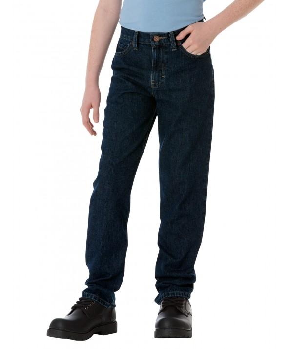 Dickies boy's pants KD110RNB - Rinsed Indigo Blue