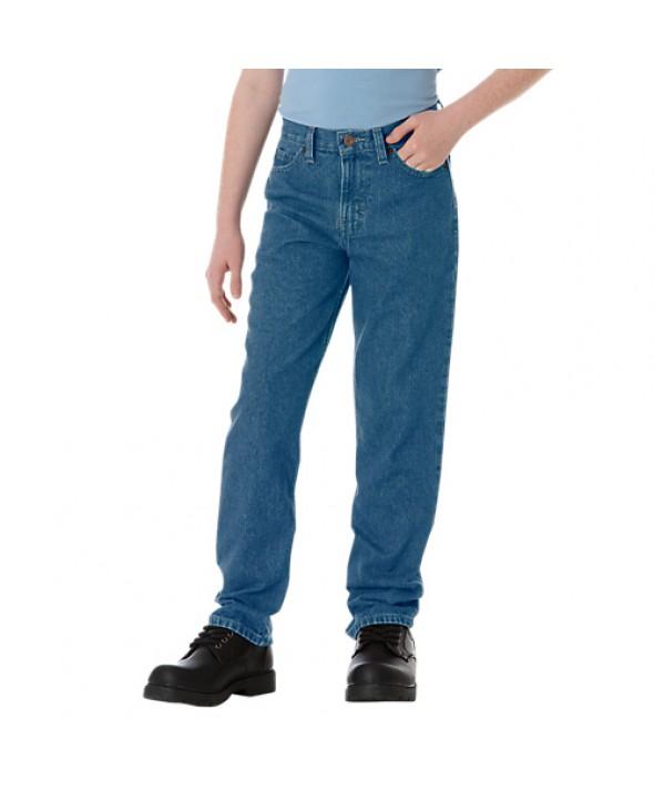 Dickies boy's pants KD110SNB - Stonewashed Indigo Blue