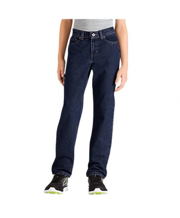 Dickies boy's pants KD120RNB - Rinsed Indigo Blue