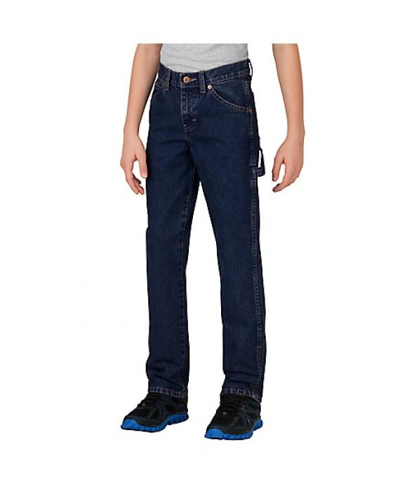 Dickies boy's pants KD130RNB - Rinsed Indigo Blue