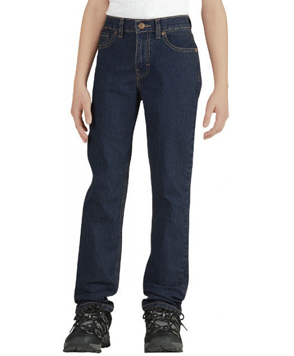 Dickies boy's pants KD3810MNT - Med Stonewash W/ Tint