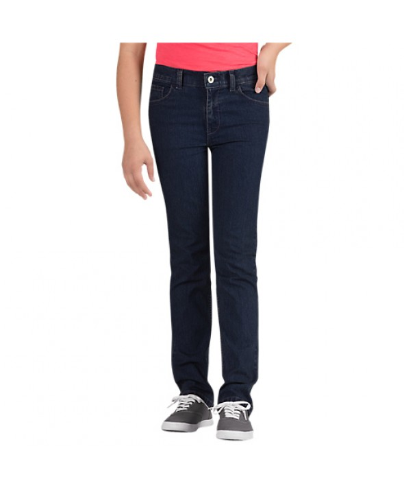 Dickies girl's pants KD560RIT - Rinsed Indigo Blue With Tint