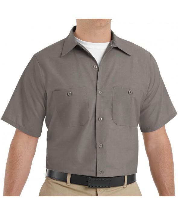 Red Kap SP24GY Mens Industrial Work Shirt - Grey