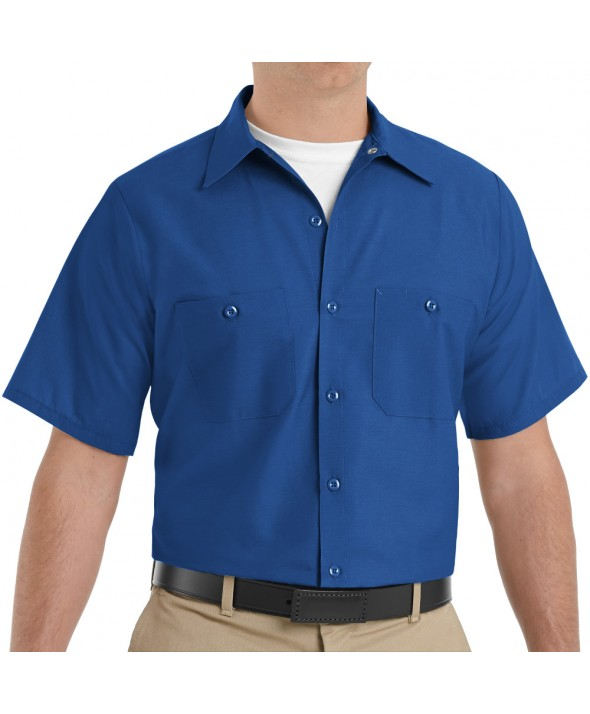 Red Kap SP24RB Mens Industrial Work Shirt - Royal Blue
