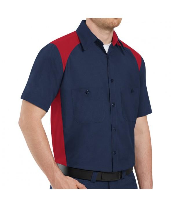 1c391fb536 Red Kap SP20EX Mens MicroCheck Uniform Shirt - Blue   Charcoal Check