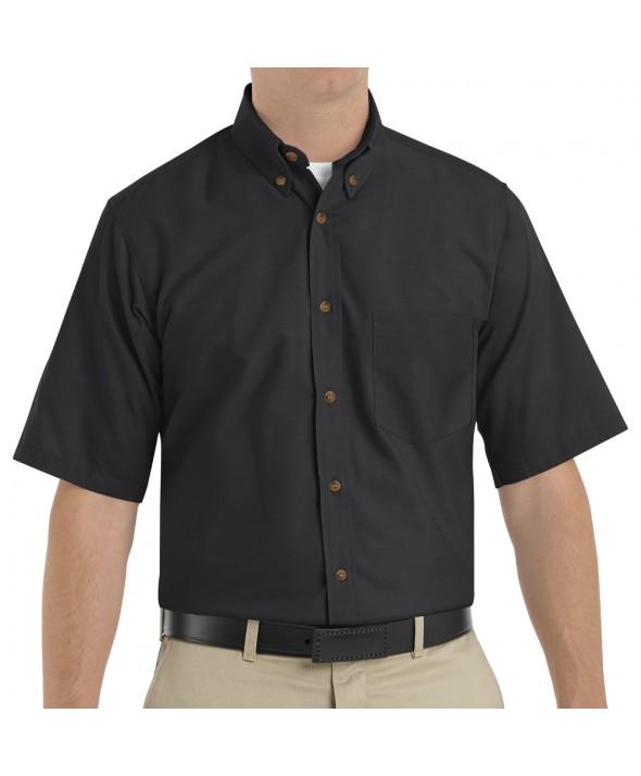 Red Kap SP80BK Mens Poplin Dress Shirt - Black