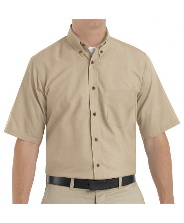 Red Kap SP80KH Mens Poplin Dress Shirt - Khaki
