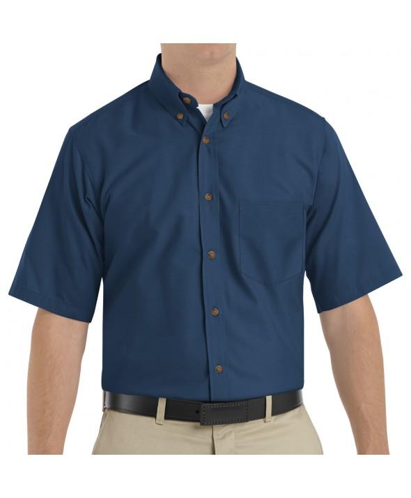 Red Kap SP80NV Mens Poplin Dress Shirt - Navy