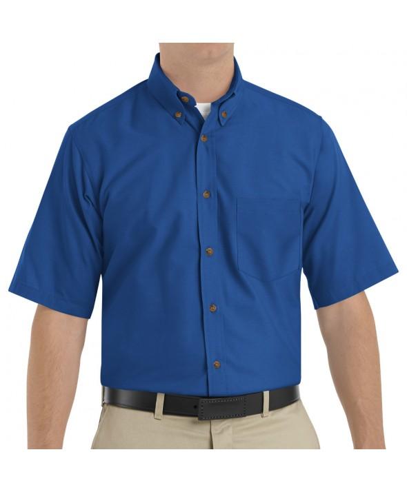 Red Kap SP80RB Mens Poplin Dress Shirt - Royal Blue