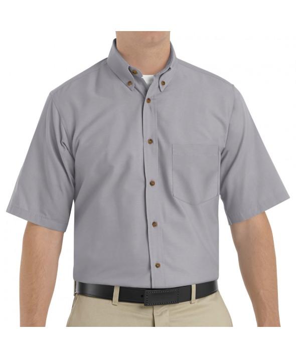 Red Kap SP80SV Mens Poplin Dress Shirt - Silver Grey