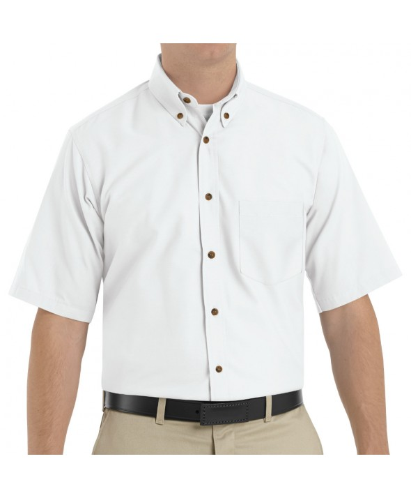 Red Kap SP80WH Mens Poplin Dress Shirt - White