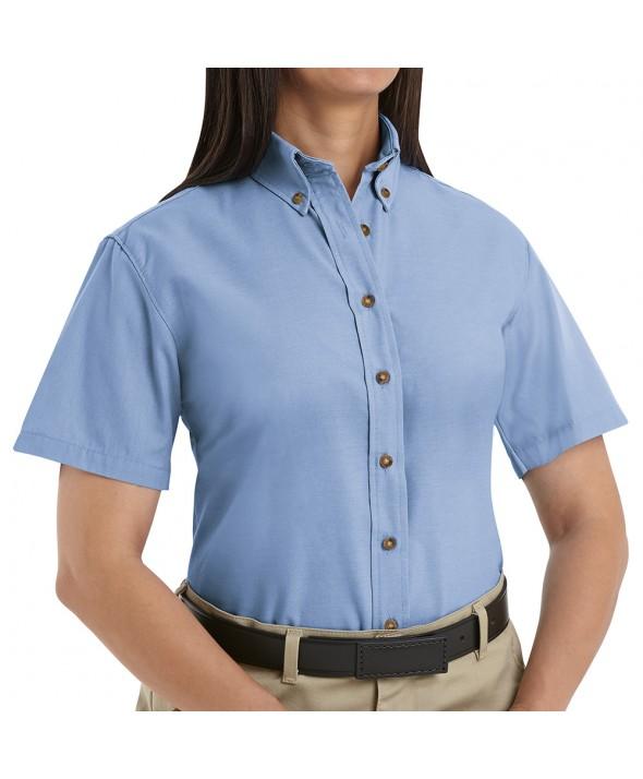 Red Kap SP81LB Womens Poplin Dress Shirt - Light Blue