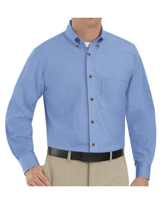 Red Kap SP90LB Mens Poplin Dress Shirt - Light Blue