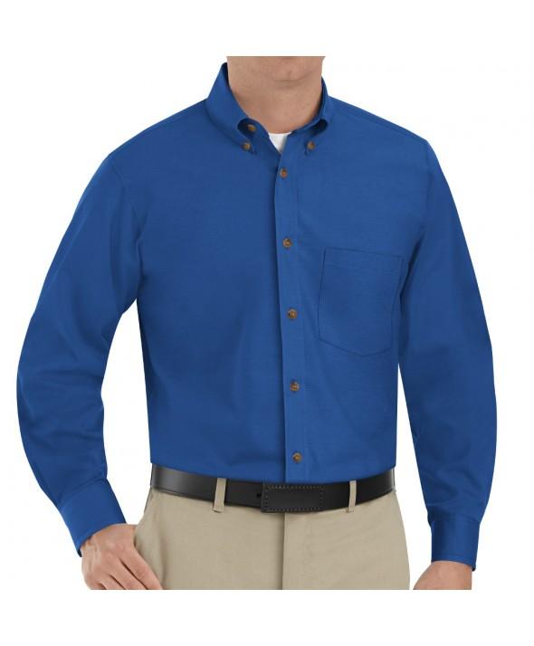 Red Kap SP90RB Mens Poplin Dress Shirt - Royal Blue