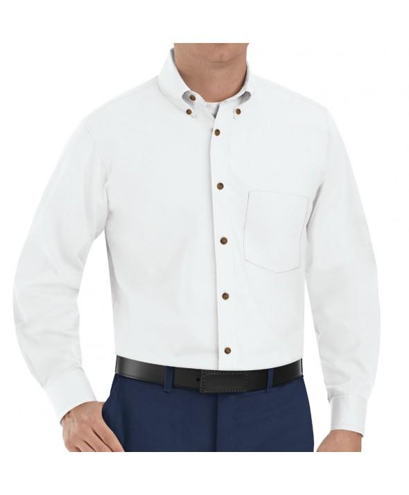 Red Kap SP90WH Mens Poplin Dress Shirt - White
