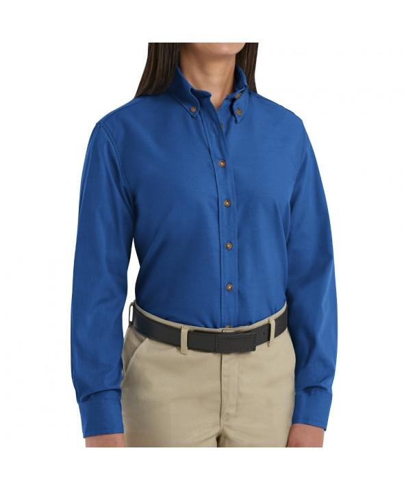 Red Kap SP91RB Womens Poplin Dress Shirt - Royal Blue