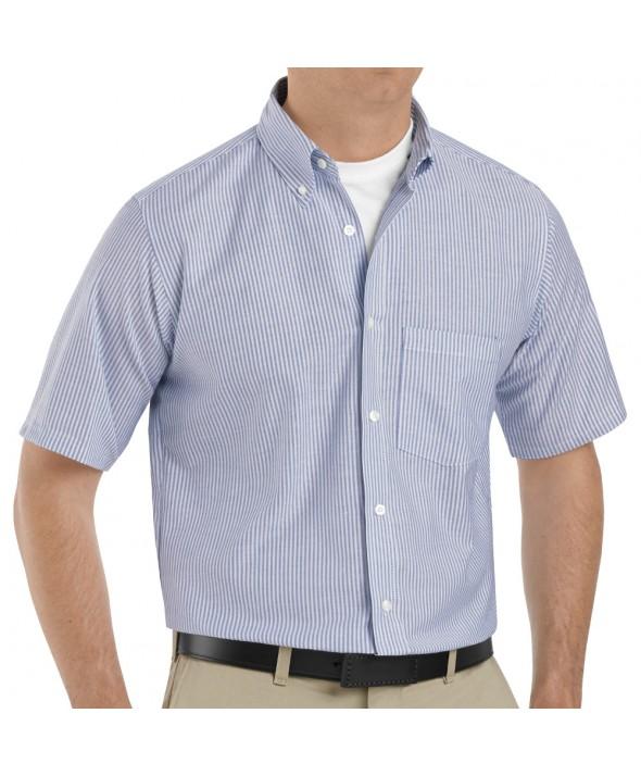 Red Kap SR60BS Mens Executive Oxford Dress Shirt - Blue / White Stripe