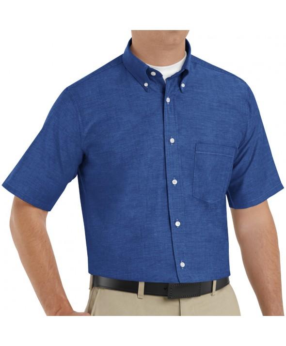 Red Kap SR60FB Mens Executive Oxford Dress Shirt - French Blue
